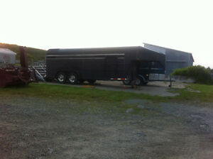 Out of the Horse buisness. Goose Neck Stock Trailer For Sale