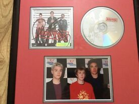 Busted signed photo and cd