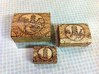coffres à bijoux ou rangements venant de CUBA  x  3