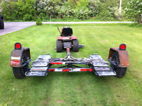 *WILL TRADE HEAVY DUTY CAR TOW DOLLY FOR LAWN TRACTOR