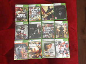 12 JEUX XBOX360 À VENDRE/12 XBOX360 GAMES FOR SALE