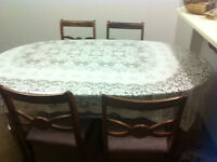 Wooden table with 4chairs