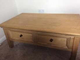 Beautiful solid oak coffee table.