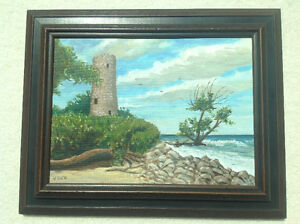 V. DICK PAINTING OF PELEE ISLAND NORTH LIGHTHOUSE