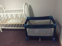 Almost new crib with playpen$40
