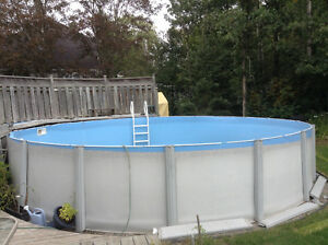 24' above ground pool with pump, filter, etc.