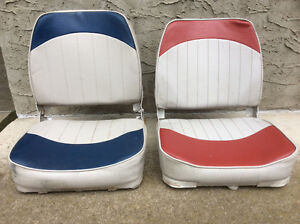 Two padded bost seats