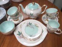 "Vintage Queen Anne ""Louise"" fine Bone China complete Tea Set, 1957"