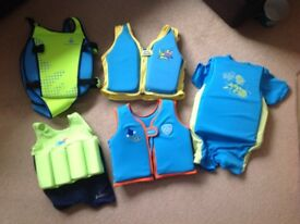 Selection of swimming float vests