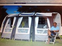 Motorhome inflatable awning