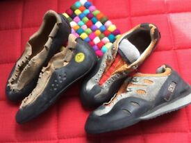 2 pairs climbing shoes 4.5 & 3
