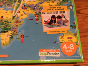 Leap Frog Interactive World Map 2 sided - TAG system LeapReader