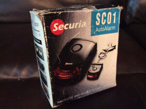 SECURIA SC01  VEHICLE ALARM SYSTEM/SECURITY SYSTEM BRAND NEW