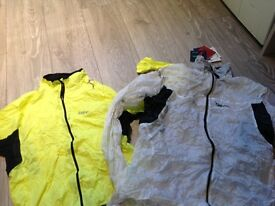 TWO cycling waterproofs LARGE