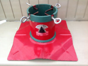 Extreme Heavy Duty Red Steel Christmas Tree Stand For Live Trees