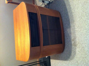 Solid Teak Wood Entertainment Stand