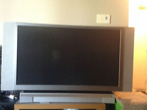 52 inch toshiba tv. Needs new bulb and works fine