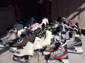 200 pair of New or Like New Skates, Hockey, Figure, Helmets