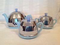 1950s/60s Teapot, Sugar Basin and Milk Jug - ceramic w/ cover