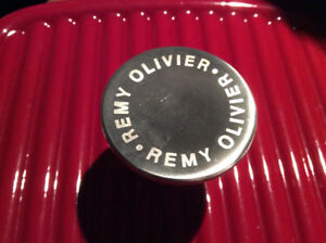 BRAND NEW REMY OLIVIER ENAMELED CAST IRON GRILL PAN AND PRESS