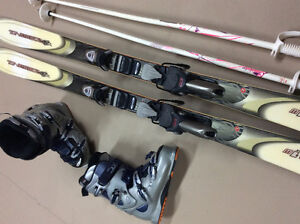 Rossignol skis, boots and poles for sale