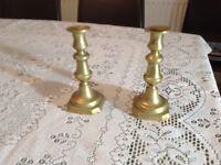 Victorian brass candle sticks