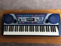 YAMAHA KEYBOARD WITH STAND AND MUSIC HOLDER