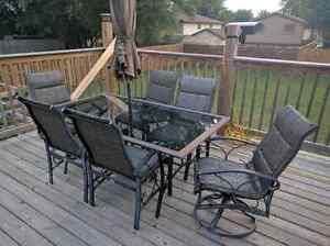 Patio Table Set with 6 chairs- Martha Stewart Living