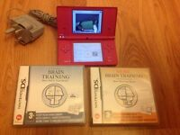 Nintendo dsi pink camera built in console games bundle
