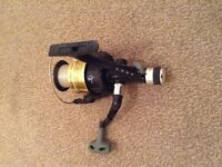 Okuma Gold & Black Pro Force Size 60 Bass Light Sea Fishing Reel Spooled With 15lb Line