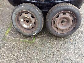2 x Winter Tyres 185/55 R15