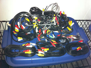 25- RCA CABLES VARIOUS LENGTHS