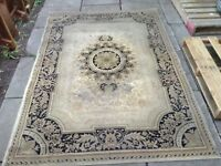 large beige carpet 63 x 89 (need cleaning)