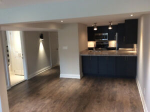 Totally Renovated  2 Brms Basement  Close To Etobicoke Boarder!
