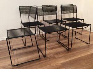 (4) Vintage Spaghetti Chairs (4) Chaises Spaghetti Vintage