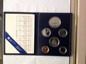 1990 Royal Canada Mint 6 coin Proof Set