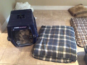 Dog crate and dog bed