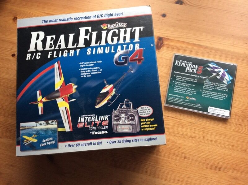Real Flight G4 flight simulator for R/C planes/helicopters.