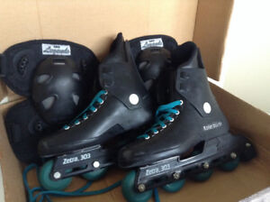 Italian Women's Rollerblades and Knee Pads Size 8.5 – Almost New