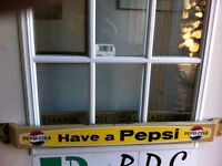 Pepsi door pushes and matching sign