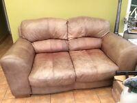 2 seater Italian Leather Sofa