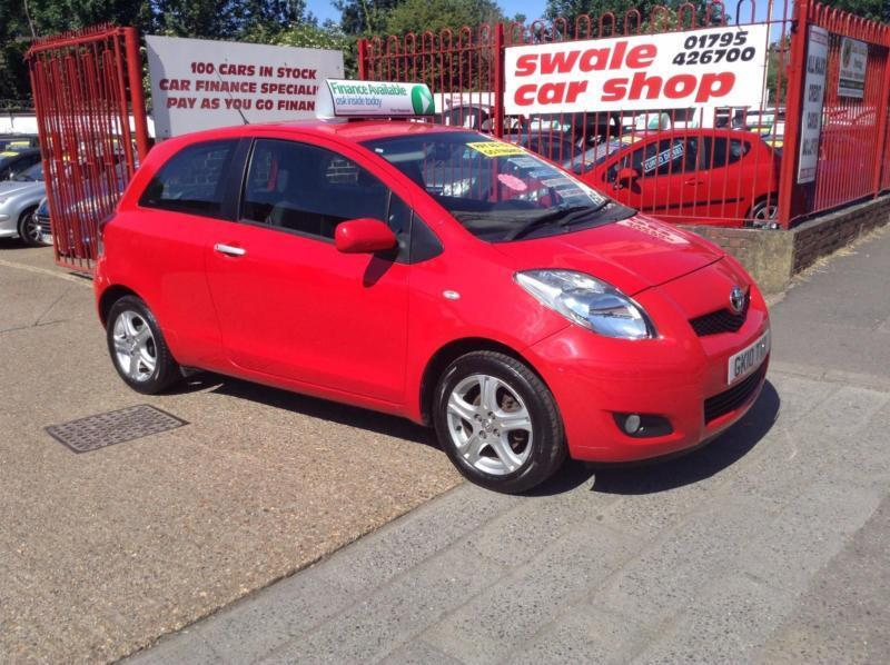 10 Reg Toyota Yaris 1.33 VVT-i TR 3 Door Manual 1 OWNER,55.4 MPG COMBINED,S/H