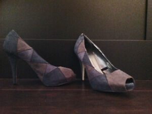 Ladies Pumps Blue/Grey