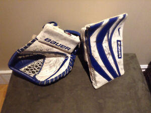 Full right goalie blocker/glove/stick