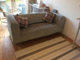 Velvet Grey Sofa in top condition