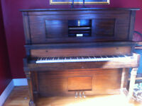 Antique Player Piano with Ivory Keys
