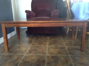 Rocking chair a coffee table