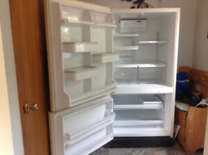 "Large Refridgerator ""Almond Color"""