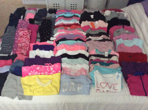 Huge lot of toddler girl's clothing, size 4