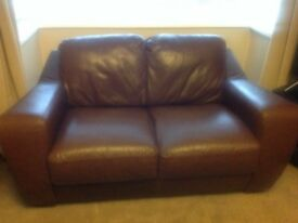 2 x lovely brown two seater settees